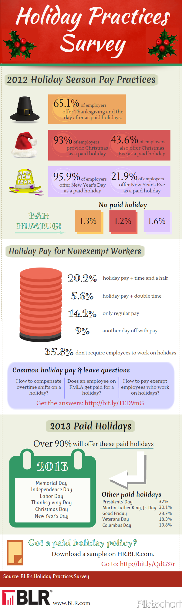 Holiday Practices Survey Infographic