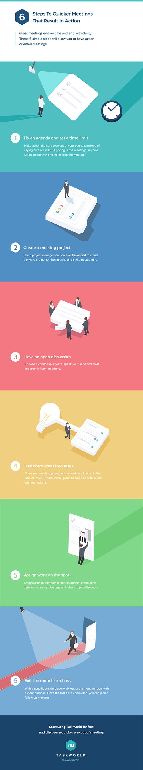 Steps for quicker meetings