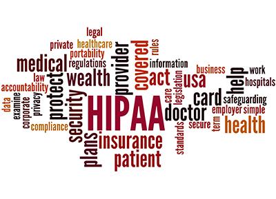 HIPAA word cloud