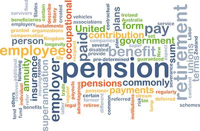Pension word cloud