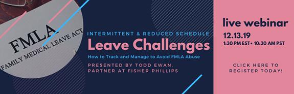 FMLA schedules webinar